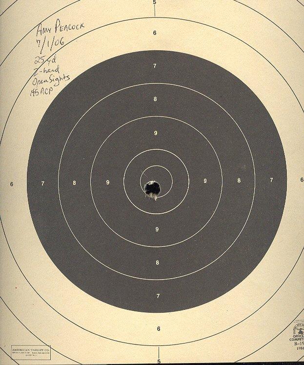 a nearly perfect bullseye
